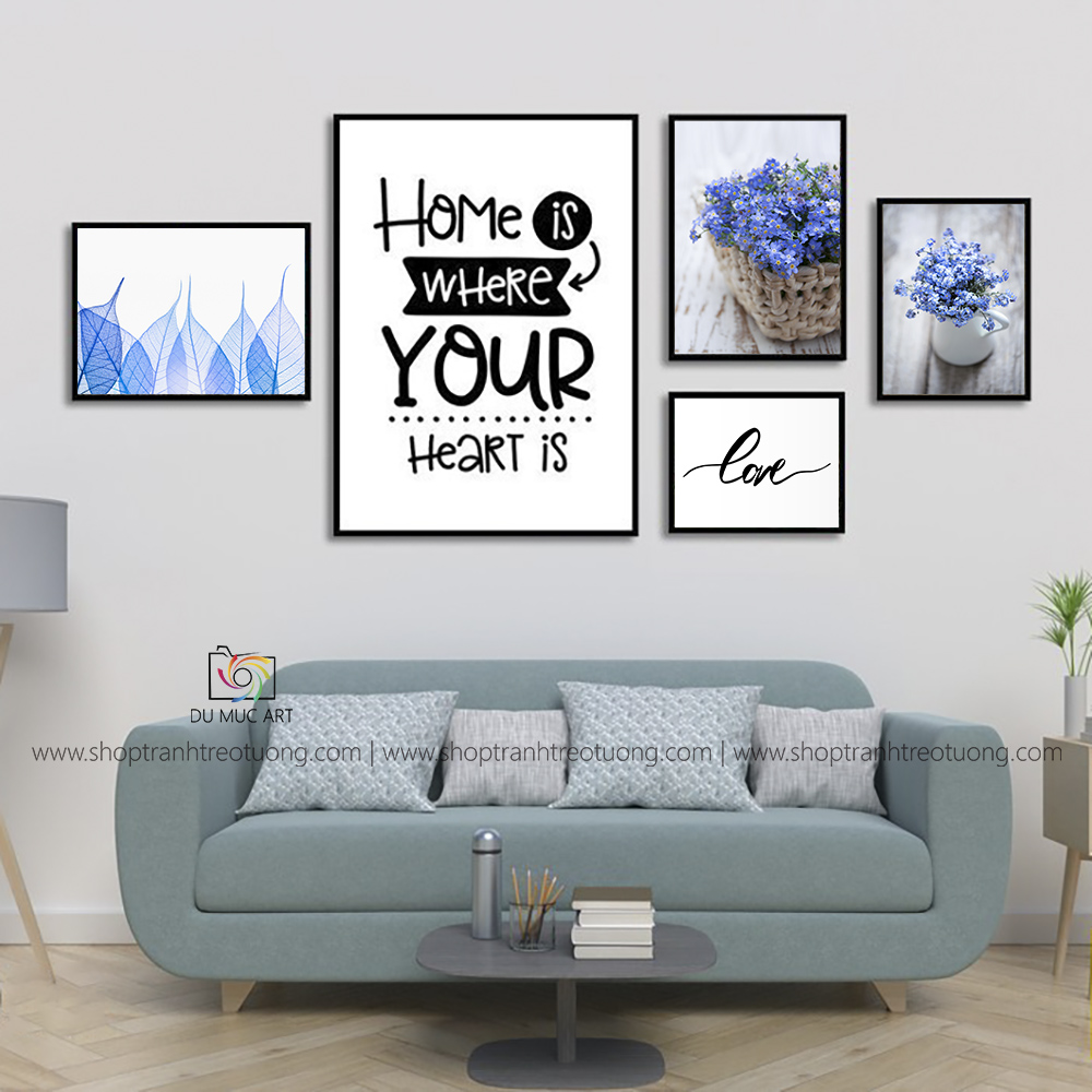 Tranh decor: Home is where your hear is